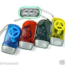 Hand-Press Dynamo 3 LED Flashlight Torch No Batteries Needed(L Green)