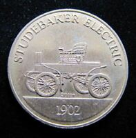 STUDEBAKER 1902 Electric Vintage Auto Car Advertising Medallion