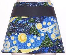 Black apron Van Gogh Starry Night waitress server waiter waist apron 3 pockets