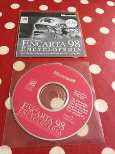 Microsoft Encarta 98 Encyclopedia Vintage Educational Reference CD