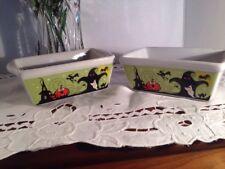 Halloween Designs Ceramic Baking Pans - Set of 2