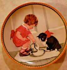 """Edwin Knowles Collector Plate """"Suppertime for Kitty"""" Jessie Wlllcox Smith 1988"""