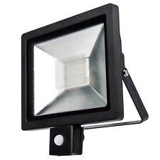 LED Slimline Ultra Compact Energy Saving Security Flood Light With PIR Sensor 30w 300w (s10952)
