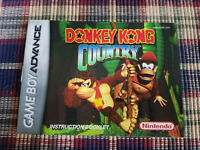 Donkey Kong Country - Authentic - Nintendo Game Boy Advance - GBA - Manual Only!