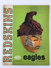 Washington Redskins Magazine The Redskin NFL Illustrated Philadelphia Eagles VTG