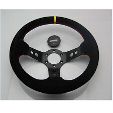 14INCH NUBUCK LEATHER DEEP DISH RALLY DRIFTING STEERING WHEEL for MOMO BOSS KIT