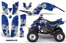 ATV Decal Graphic Kit Quad Sticker Wrap For Yamaha Raptor 660 2001-2005 CAMO BLU
