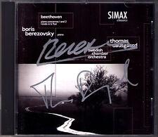 Boris BEREZOVSKY & Thomas DAUSGAARD Signiert BEETHOVEN Piano Concerto No.1 2 CD