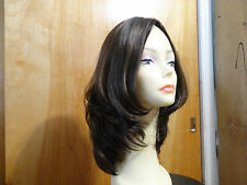 Malky European Multidirectional Human Hair Wig Sheitel Medium Brown 8/4 Small