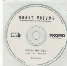 (BY800) Grand Volume, History / Fire Come Soon - DJ CD