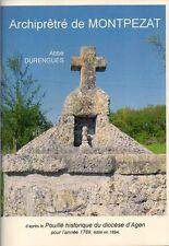 ARCHIPRETRÉ de MONTPEZAT + POUILLÉ ABBÉ DURENGUES + Lot-et-Garonne 47