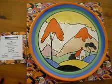 Wedgwood Clarice Cliff CC Fantasque Mountain Plaque Ltd Ed no 27 Cert Auth Bxd