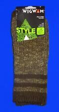Wig Wam Pine Lodge Retro Style Socks~Brown Heather~Men 9-12, Women 10-13