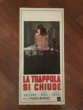 LOCANDINA S43 LA TRAPPOLA SI CHIUDE LE PIEGE 1958,Vallone Magali Noel,Vanel sexy