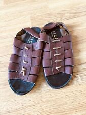 Office London Ladies Brown Leather Sandals UK Size 6 - EU 39