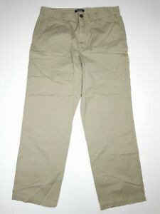 Lands End 100% Cotton Canvas Khaki Green Summer Trousers Outdoor Walking Hiking