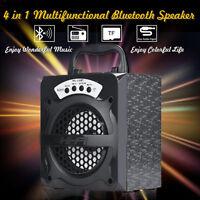 Super Bass Portable Outdoor Wireless USB/TF/AUX/ FM Radio Bluetooth Speaker UK