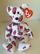 ~JACK the UK Flag Bear plush Teddy Bear TY BEANIE Babies NWT RT