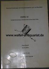 DFVLR DLR Satellite ESRO IV Satellite Solar array spaziale Space Orbit 1974