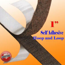 """1"""" x 5 Yard 15 FT Self Adhesive Hook and Loop Sticky Tape 25mm Fabric Fastener"""