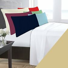 SINGLE BED BEIGE LATTE BASE VALANCE SHEET POLYCOTTON 180 THREAD COUNT PERCALE