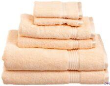 6-pc Peach Superior 600 GSM Combed Cotton Towel, Hand Towel, Washcloth Set