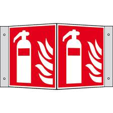 Feuerlöscher Schild Brandschutzzeichen 15 x 15 Winkelschild F001