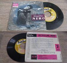 JACQUELINE NERO - La Dernière Manche Rare French EP Pop OST Bob Le Flambeur