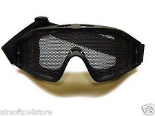 Airsoft Glasses Goggles Black Tactical RV-Style Metal Mesh AEG Shooting (155)