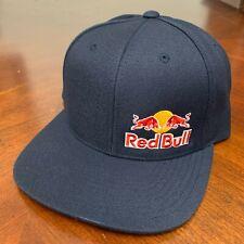 Red Bull Navy Blue Snapback Cap Small Side Logo