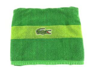 "Lacoste Big Crocodile Logo Towel Cotton 48"" X 29"" Beach"