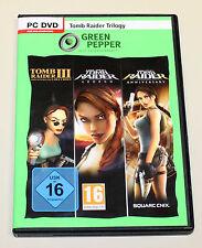 Tomb raider trilogy-pc dvd-Legend Anniversary III 3 Adventures of Lara Croft