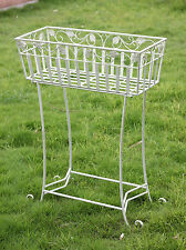 Antique Style Large Outdoor Cream Garden Planter/Plant Stand