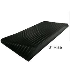 "Rubber Power Wheelchair Threshold Ramps - 3"" Height"