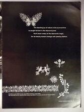 De Beers Jewelry PRINT AD - 1967 ~~ Diamond jewelers, butterfly pin, DeBeers