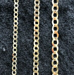 """Solid 9ct Yellow Gold Curb Chain Hallmarked Ankle Chain 10"""" NEW"""