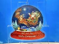 "Kurt Adler 4.25""~SANTA HO HO HO MERRY CHRISTMAS~3D Lenticular Christmas Ornament"