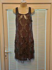 Señoras Vestido Sexy Lentejuelas Gris-UK Size 18