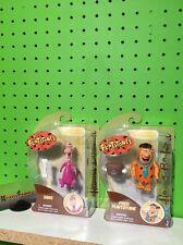 Jazwares The Flintstones 3 3/4 Inch Fred & Dino Action Figure Lot