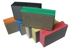 Diamond Hand Polishing Pads 15 PCS Granite Marble Concrete Glass Stone edge