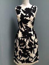 NWT $4990 Oscar de la Renta size 2 white navy (lblack) silk faille shift dress