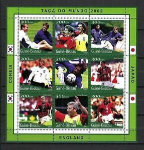 Guinea-Bissau 2001 Mi#1370-78  World Cup Soccer 2002-Owen/Others  MNH M/S $8.65