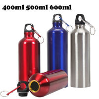 Aluminum Portable Outdoor Bike Cycling Hiking Water Bottle Drinking Kettle w/Lid