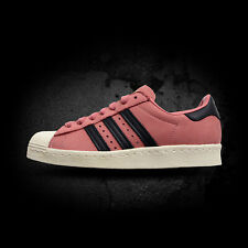 Adidas Women's Superstar 80s Sneakers CQ2513 Pink-Black-White Size 6.5