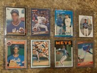 (8) Dwight Gooden 1985 1986 Donruss Fleer Topps Rookie 2nd year Card Lot RC Mets
