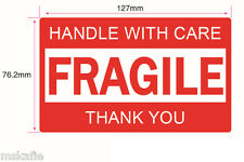 180PCS 127x76mm FRAGILE HANDLE WITH CARE THANK YOU Label Sticker Sheet Warning