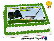 GOLF REAL EDIBLE ICING CAKE IMAGE RECTANGLE TOPPER FROSTING SHEET