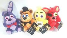 "Five Nights At Freddy's FNAF Complete set of 4 Plush 6"" Bonnie Chica Foxy Freddy"