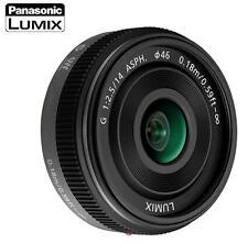 PANASONIC LUMIX G 14mm F2.5 F/2.5 ASPH AF LENS H-H014 MICRO Black NEW