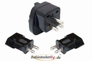 3x SET Reisestecker Adapter Dominikanische Republik USA Typ B + 2x Typ A